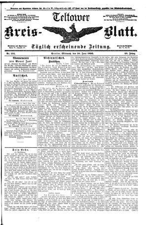 Teltower Kreisblatt vom 10.06.1896