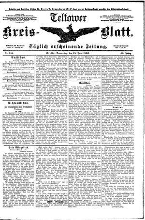 Teltower Kreisblatt vom 18.06.1896