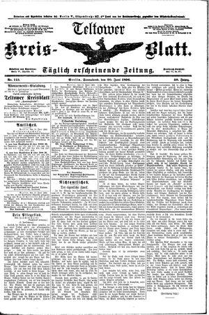 Teltower Kreisblatt vom 20.06.1896