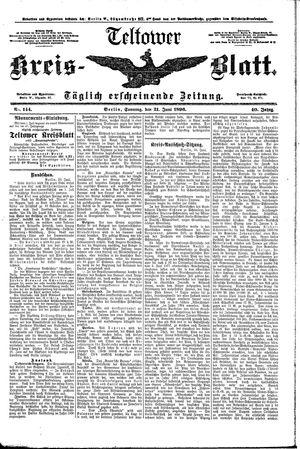 Teltower Kreisblatt vom 21.06.1896