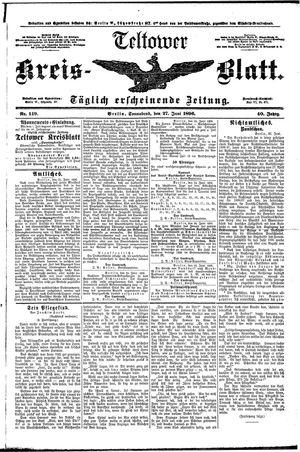 Teltower Kreisblatt vom 27.06.1896