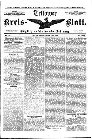 Teltower Kreisblatt vom 28.06.1896