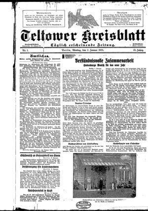 Teltower Kreisblatt on Jan 2, 1933