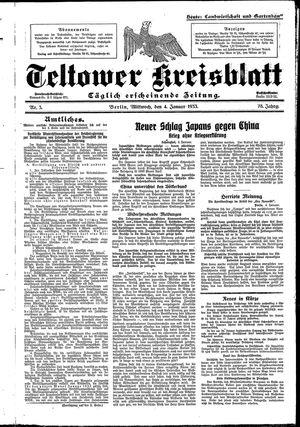 Teltower Kreisblatt vom 04.01.1933