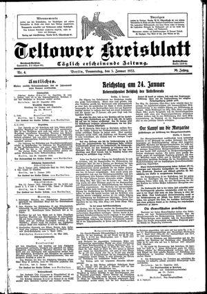 Teltower Kreisblatt vom 05.01.1933