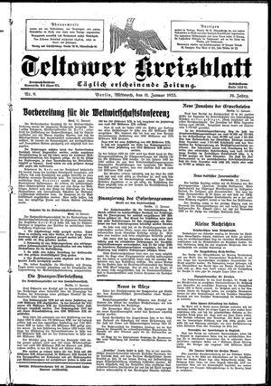 Teltower Kreisblatt vom 11.01.1933