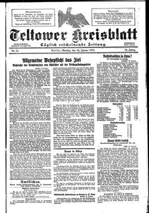 Teltower Kreisblatt vom 16.01.1933
