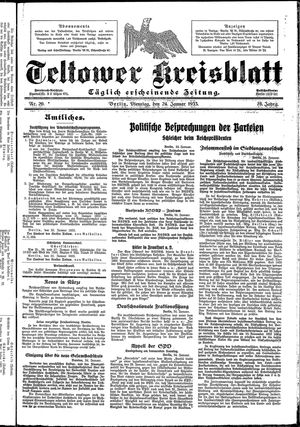 Teltower Kreisblatt vom 24.01.1933