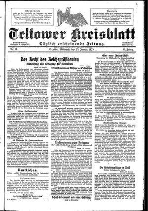 Teltower Kreisblatt on Jan 25, 1933