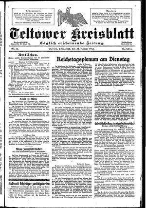 Teltower Kreisblatt vom 28.01.1933
