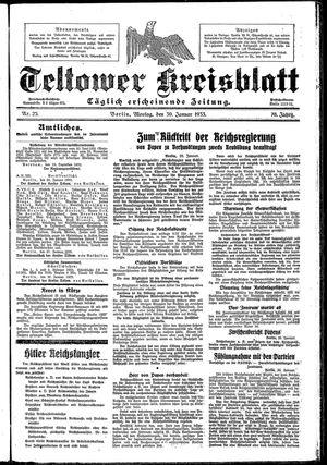 Teltower Kreisblatt vom 30.01.1933