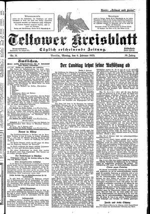 Teltower Kreisblatt vom 06.02.1933
