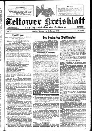 Teltower Kreisblatt on Feb 13, 1933