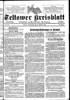 Teltower Kreisblatt on Feb 16, 1933