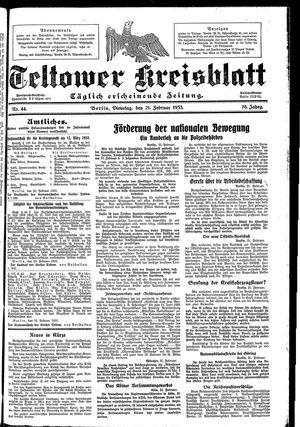 Teltower Kreisblatt vom 21.02.1933