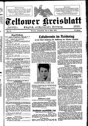 Teltower Kreisblatt vom 04.03.1933