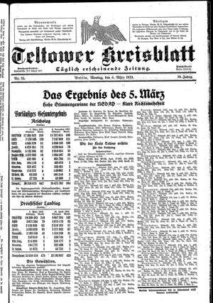Teltower Kreisblatt vom 06.03.1933