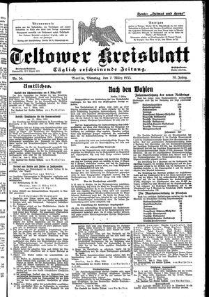 Teltower Kreisblatt vom 07.03.1933