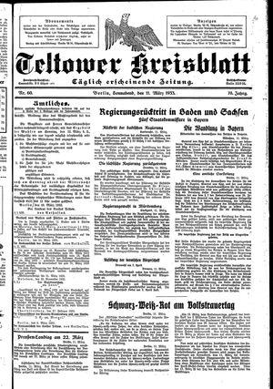 Teltower Kreisblatt vom 11.03.1933