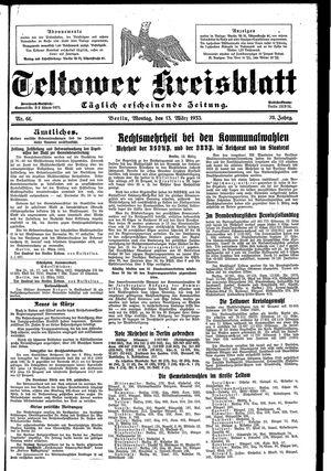 Teltower Kreisblatt vom 13.03.1933