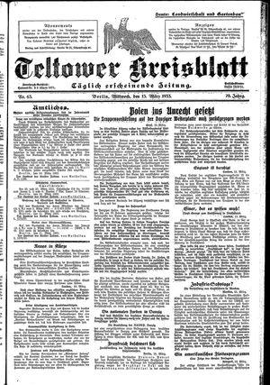 Teltower Kreisblatt vom 15.03.1933