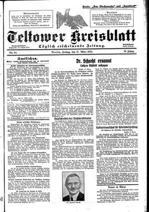 Teltower Kreisblatt vom 17.03.1933