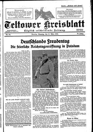 Teltower Kreisblatt vom 21.03.1933