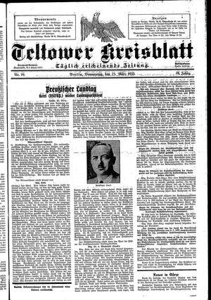 Teltower Kreisblatt vom 23.03.1933