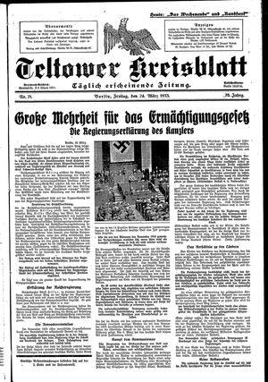 Teltower Kreisblatt vom 24.03.1933