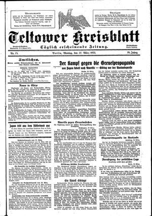 Teltower Kreisblatt vom 27.03.1933
