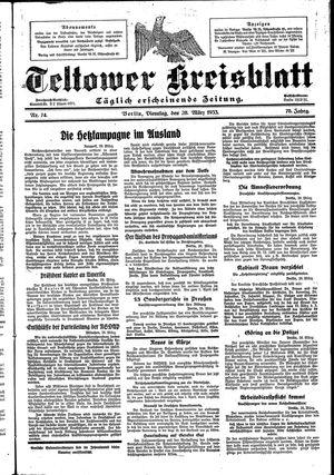 Teltower Kreisblatt vom 28.03.1933