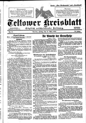 Teltower Kreisblatt vom 31.03.1933