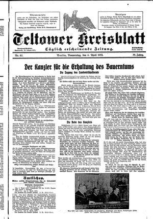 Teltower Kreisblatt on Apr 6, 1933