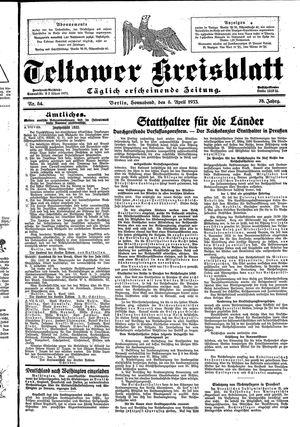 Teltower Kreisblatt vom 08.04.1933