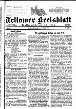 Teltower Kreisblatt vom 10.04.1933