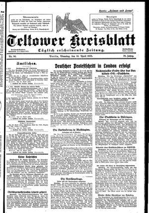 Teltower Kreisblatt vom 18.04.1933