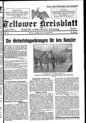 Teltower Kreisblatt vom 21.04.1933