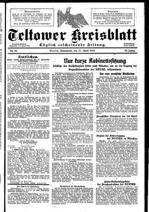 Teltower Kreisblatt on Apr 22, 1933