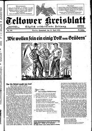 Teltower Kreisblatt on Apr 29, 1933