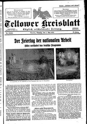 Teltower Kreisblatt vom 02.05.1933