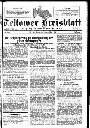 Teltower Kreisblatt vom 04.05.1933