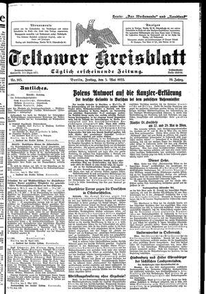 Teltower Kreisblatt vom 05.05.1933