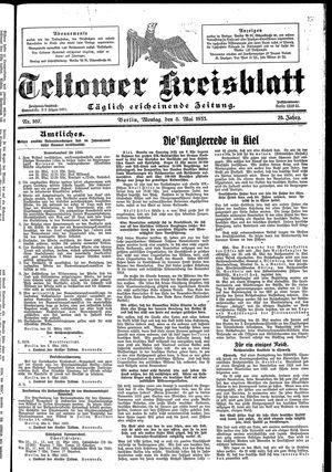Teltower Kreisblatt vom 08.05.1933