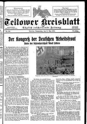 Teltower Kreisblatt vom 11.05.1933