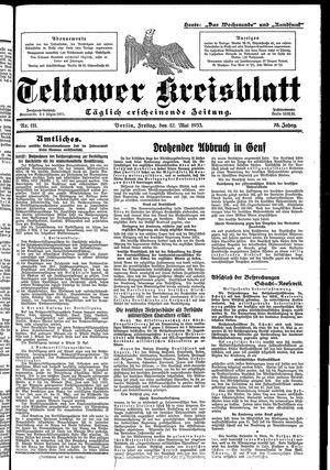 Teltower Kreisblatt vom 12.05.1933