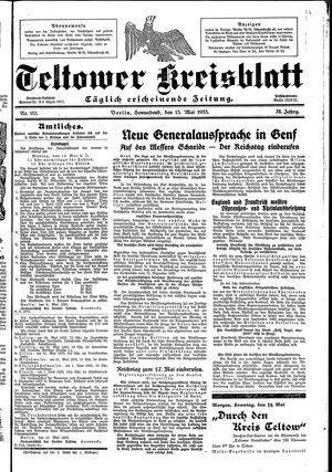 Teltower Kreisblatt vom 13.05.1933