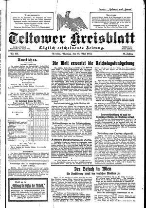 Teltower Kreisblatt vom 15.05.1933