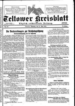 Teltower Kreisblatt on May 16, 1933
