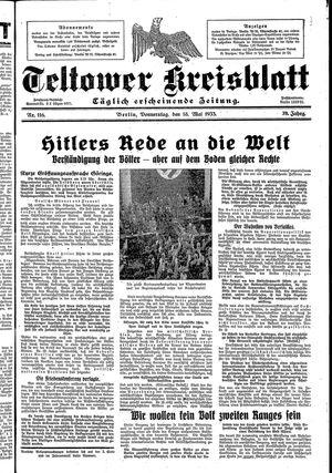 Teltower Kreisblatt vom 18.05.1933