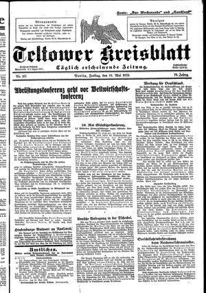Teltower Kreisblatt vom 19.05.1933